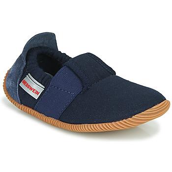 Schuhe Kinder Hausschuhe Giesswein SOLL Marineblau