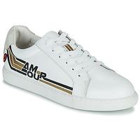 Schuhe Damen Sneaker Low Bons baisers de Paname SIMONE AMOUR RETRO Weiß / Golden