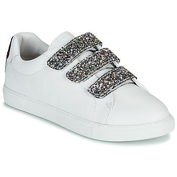 Schuhe Damen Sneaker Low Bons baisers de Paname EDITH GLITTER TONGUE Weiß