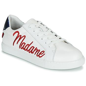 Schuhe Damen Sneaker Low Bons baisers de Paname SIMONE MADAME MONSIEUR Weiß