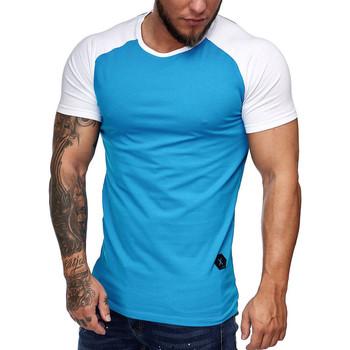 Vêtements Homme T-shirts manches courtes Cabin T-shirt bi color homme T-shirt 1302 turquoise Bleu