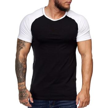 Vêtements Homme T-shirts manches courtes Cabin T-shirt bi color pour homme T-shirt 1302 noir Noir