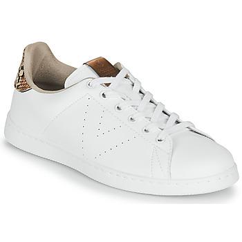 Chaussures Femme Baskets basses Victoria TENIS PIEL VEG Blanc / Marron