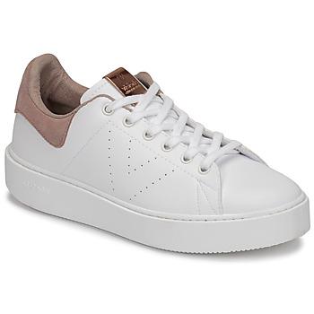 Chaussures Femme Baskets basses Victoria UTOPÍA PIEL VEG Blanc / Rose