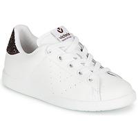 Chaussures Fille Baskets basses Victoria TENIS PIEL Blanc / Bordeaux