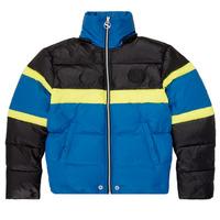 Kleidung Jungen Daunenjacken Diesel JMARTOS Blau / Gelb