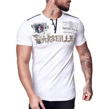 Vêtements Homme T-shirts manches courtes Cabin T-shirt homme Marseille T-shirt 3577 blanc Blanc