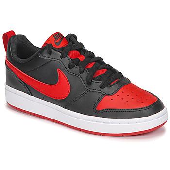 Chaussures Enfant Baskets basses Nike COURT BOROUGH LOW 2 GS Noir / Rouge