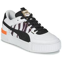 Chaussures Femme Baskets basses Puma CALI SPORT WILD Blanc / Noir