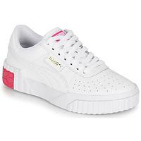 Chaussures Fille Baskets basses Puma CALI JR Blanc / Rose