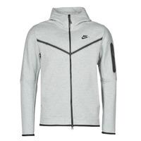 Vêtements Homme Vestes de survêtement Nike M NSW TCH FLC HOODIE FZ WR Gris / Noir