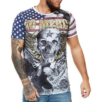 Vêtements Homme T-shirts manches courtes Cabin T-shirt homme tête de mort T-shirt 1485 blanc Blanc