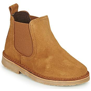 Schuhe Kinder Boots Citrouille et Compagnie HOVETTE Kamel