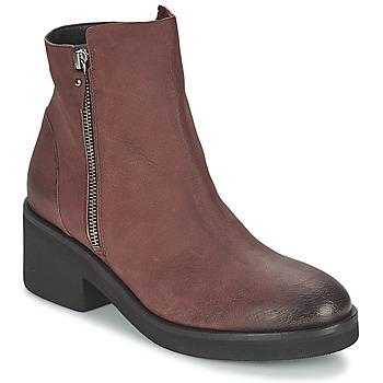 Chaussures Femme Boots Vic ASCILLE Bordeaux