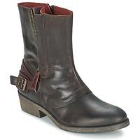 Schuhe Damen Boots Kickers AMERIKO Braun,
