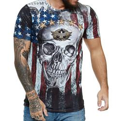 Vêtements Homme T-shirts manches courtes Cabin T-shirt USA tête de mort T-shirt 1475 blanc Blanc