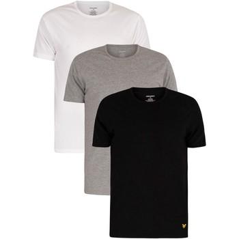 Vêtements Homme T-shirts manches courtes Lyle & Scott Lot de 3 t-shirts ras du cou Maxwell Lounge multicolore