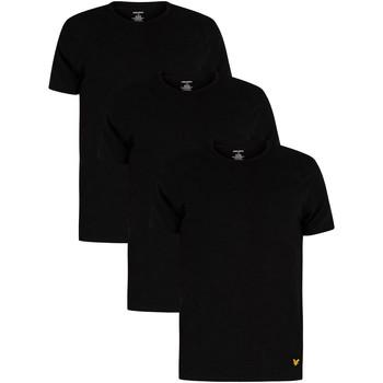 Vêtements Homme T-shirts manches courtes Lyle & Scott Lot de 3 t-shirts ras du cou Maxwell Lounge noir