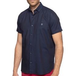 Vêtements Homme Chemises manches courtes Shilton Chemise fantaisie écusson Bleu marine