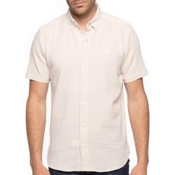 Vêtements Homme Chemises manches courtes Shilton Chemise tissu gaufré Beige