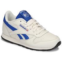 Schuhe Kinder Sneaker Low Reebok Classic CLASSIC LEATHER Weiß / Blau