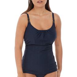 Vêtements Femme Maillots de bain séparables Fantasie Haut de bain tankini à armatures Long island ink Bleu