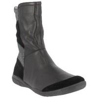 Chaussures Femme Bottines Karston Mi-botte balou Noir