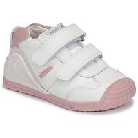Schuhe Mädchen Sneaker Low Biomecanics BIOGATEO SPORT Weiß