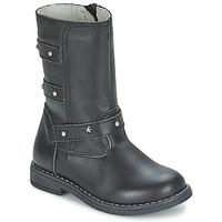 Schuhe Mädchen Klassische Stiefel Citrouille et Compagnie ELZA Schwarz