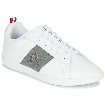 Schuhe Sneaker Low Le Coq Sportif COURTCLASSIC GS Weiß