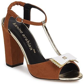 Schuhe Damen Sandalen / Sandaletten Karine Arabian ABBAZIA Weiß / Gold