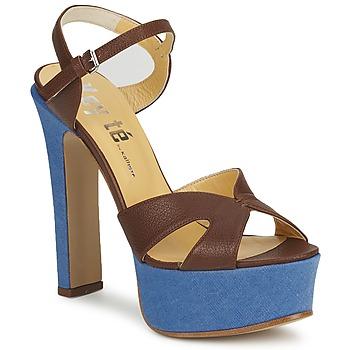 Schuhe Damen Sandalen / Sandaletten Keyté CUBA-LUX-MARRONE-FLY-9 Maroni
