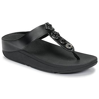 Schuhe Damen Zehensandalen FitFlop FINO CIRCLE TOE-THONGS