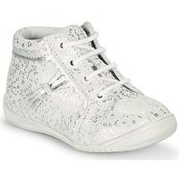 Chaussures Fille Baskets montantes GBB ACINTA VTE BLANC ARGENT DPF/KEZIA