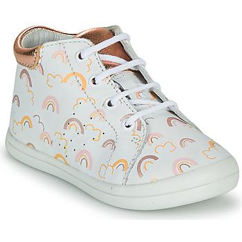 Chaussures Fille Baskets montantes GBB NAHIA VTE IMP ARC EN CIEL-ROSE DPF/TOODOU