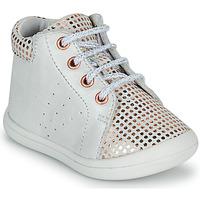 Chaussures Fille Baskets montantes GBB NAHIA VTC BLANC-IMP POIS OR ROSE DPF/TOODOU