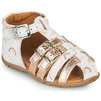 Chaussures Fille Sandales et Nu-pieds GBB RIVIERA VTE IMP ARC EN CIEL-ROSE DPF/ZABOU
