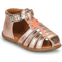 Schuhe Mädchen Sandalen / Sandaletten GBB ANAYA VTE OR ROSE DPF/ZABOU