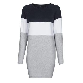Vêtements Femme Robes courtes Only ONLLILLO Marine / Blanc / Gris