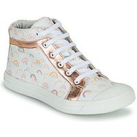 Chaussures Fille Baskets montantes GBB LEOZIA VTE IMP ARC EN CIEL-ROSE DPF/MILENA