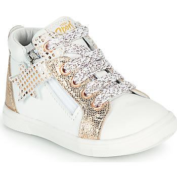 Schuhe Mädchen Sneaker High GBB VALA VTC BLANC-OR ROSE DPF/TRILLY