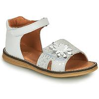 Chaussures Fille Sandales et Nu-pieds GBB SATIA VTE BLANC-ARGENT DPF/VIPERA