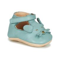 Schuhe Kinder Hausschuhe Easy Peasy LOULOU MOUSE Blau