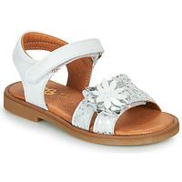 Schuhe Mädchen Sandalen / Sandaletten GBB UPPLA Weiß / Silbrig