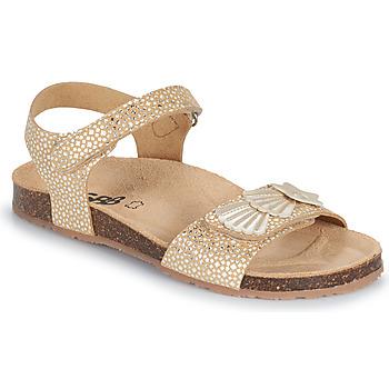 Schuhe Mädchen Sandalen / Sandaletten GBB FAZZI TTS BEIGE-OR  DTX/SOUPLE