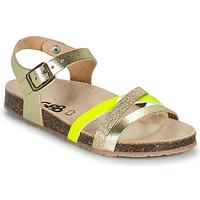 Chaussures Fille Sandales et Nu-pieds GBB LULUNE VTS OR-JAUNE DPF/SOUPLE