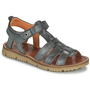 Chaussures Garçon Sandales et Nu-pieds GBB PATHE NUB GRIS FONCE DPF/LISBONA