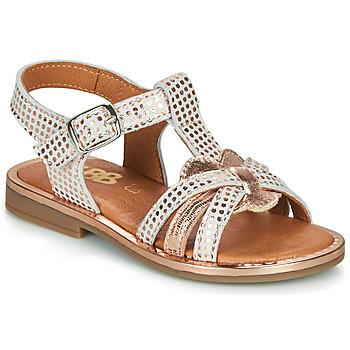 Chaussures Fille Sandales et Nu-pieds GBB EGEA CRT IMPR POIS OR ROSE DPF/COLA