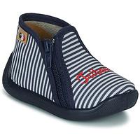 Scarpe Bambina Pantofole GBB APOMO TTX BLANC-RAYE MARINE DTX/CHAUSSON