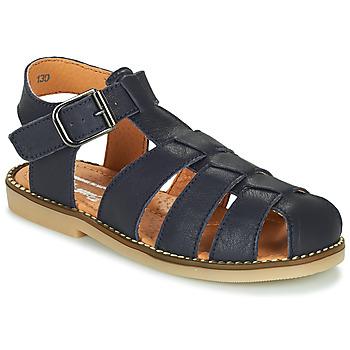 Chaussures Garçon Sandales et Nu-pieds Little Mary BREHAT VTE MARINE DPF/ROMAIN